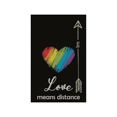 Wash&Dry Decor Fussmatte Love Means Distance 75x120cm