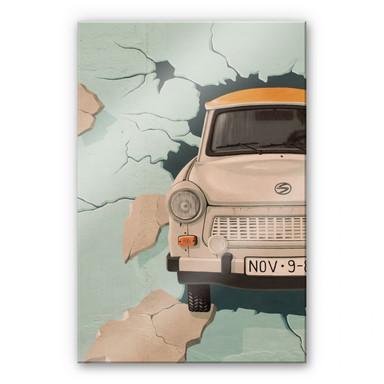 Acrylglasbild Ab durch die Wand
