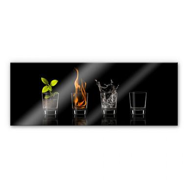 Acrylglasbild Frutos Vargas - The Four Elements - Panorama