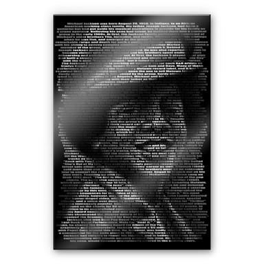 Acrylglasbild Heine - Michael Jacksons Biographie
