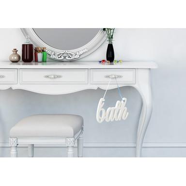 Dekobuchstaben 3D-Anhänger -Bath-