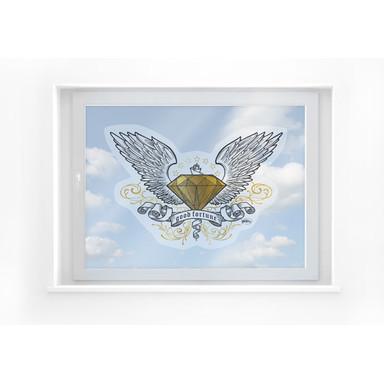 Fensterbild LA Ink Diamant mit Flügeln