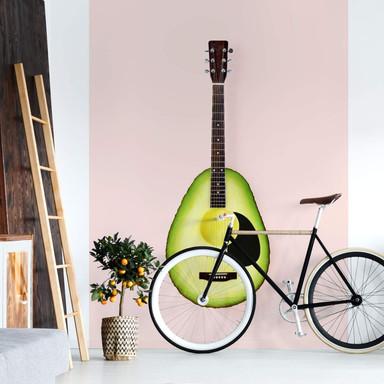 Fototapete Fuentes - Avocado Gitarre