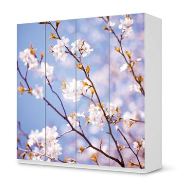 Klebefolie IKEA Pax Schrank 201cm Höhe - 4 Türen - Apple Blossoms- Bild 1