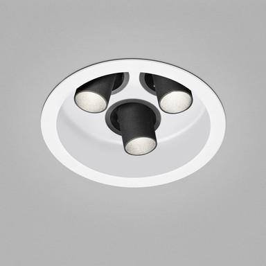 LED Deckeneinbauleuchte Run in Weiss und Schwarz 3x 8W 885lm