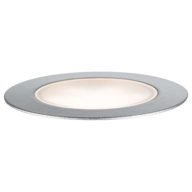 LED Plug & Shine Bodeneinbauleuchte in silber warmweiss IP65 70mm