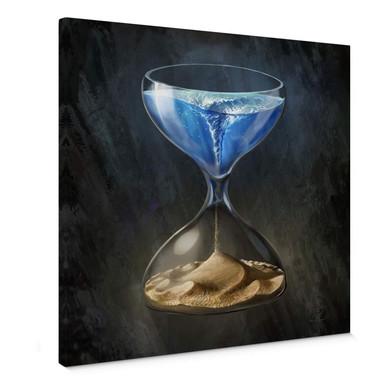 Leinwandbild aerroscape - Die Zeit läuft ab - Quadratisch