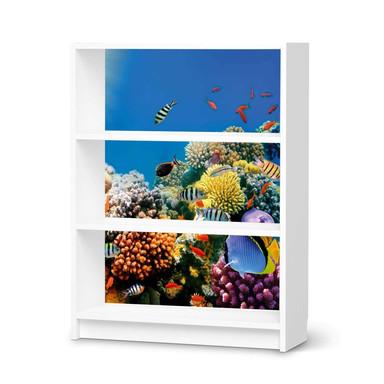 Möbelfolie IKEA Billy Regal 3 Fächer - Coral Reef