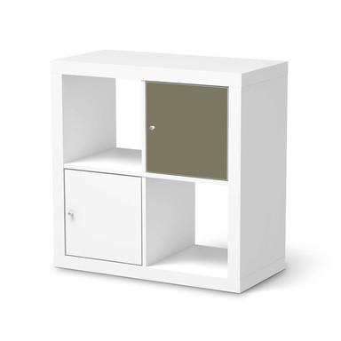 Möbelfolie IKEA Kallax Regal 1 Türe - Braungrau Light