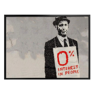 Poster Banksy - Zero interest in people