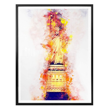 Poster Hugonnard - Watercolour: Statue of Liberty