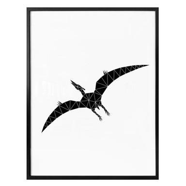 Poster Nouveauprints - Geometric Dinosaur Pterodactylus