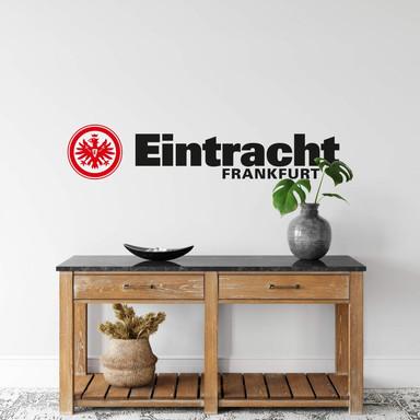 Wandsticker Eintracht Frankfurt Logo mit Schriftzug
