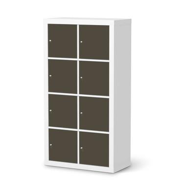 Folie IKEA Kallax Regal 8 Türen - Braungrau Dark- Bild 1