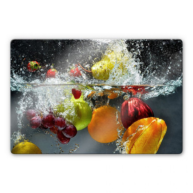 Glasbild Erfrischendes Obst