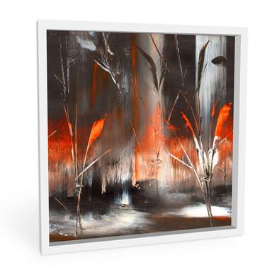 Hartschaumbild Niksic - Feuer und Asche - Bild 1