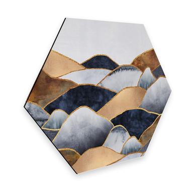 Hexagon - Alu-Dibond Fredriksson - Goldene Hügel