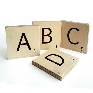 Holzbuchstaben Buchstabensteine