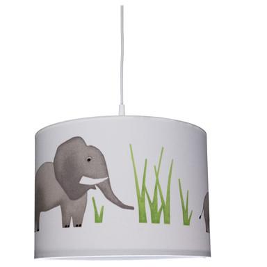 Kinderzimmer Pendelleuchte mit Elefantenmotiv, E27