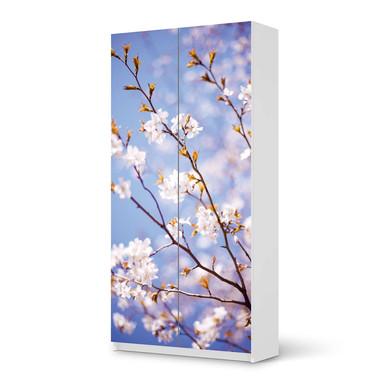 Klebefolie IKEA Pax Schrank 201cm Höhe - 2 Türen - Apple Blossoms