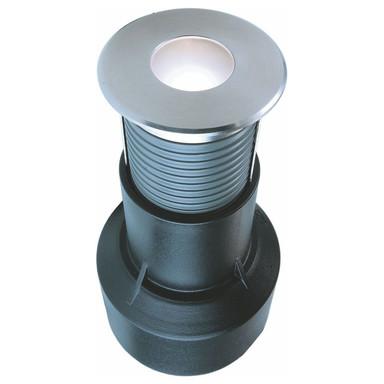 LED Bodeneinbauleuchte Basic Round in Silber 0.6W 15lm 3000K