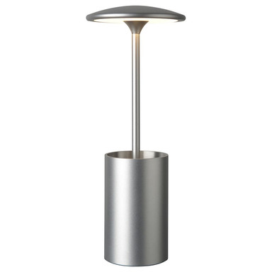 LED Tischleuchte Pott in Silber 7W 455lm