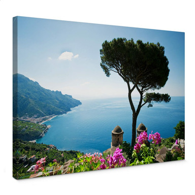 Leinwandbild Blick auf die Amalfiküste