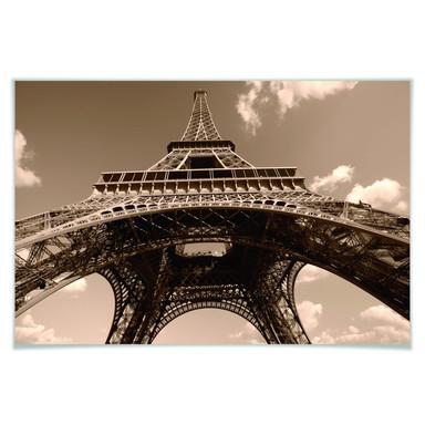 Poster Eiffelturm Perspektive