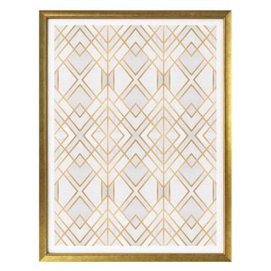 Poster Fredriksson - Goldene Geometrie