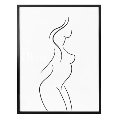 Poster Lineart - Im Profil