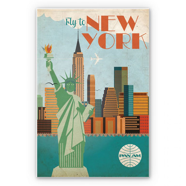 Wandbild PAN AM - Fly to New York