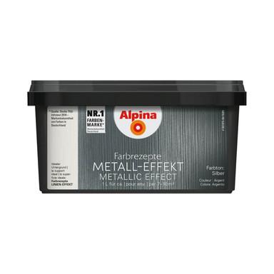 Alpina Farbrezepte METALL-EFFEKT Silber - 1 Liter - Bild 1
