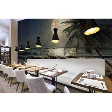Architects Paper Fototapete Atelier 47 Beach at Night Mond