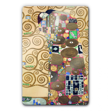 Glasbild Klimt - Die Erfüllung