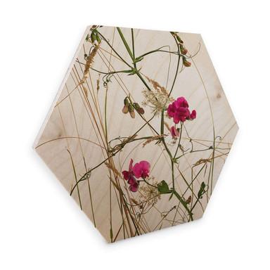 Hexagon - Holz Birke-Furnier Kadam - Duftende Erbse