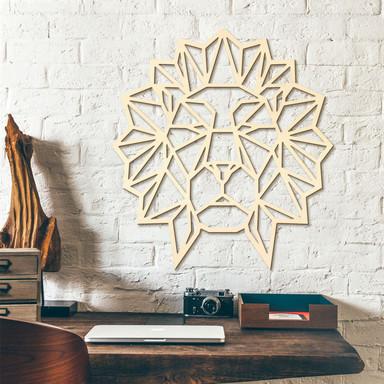 Holzkunst Pappel - Origami Löwenkopf