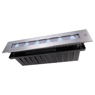 LED Bodeneinbauleuchte Line III in Silber 24V RGB IP67