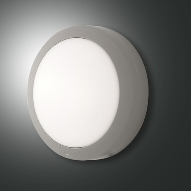 LED Deckenleuchte Axel in Grau IP65 200mm