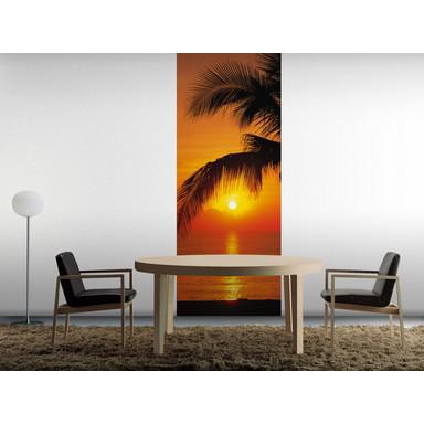 Fototapete Palmy Beach Sunrise