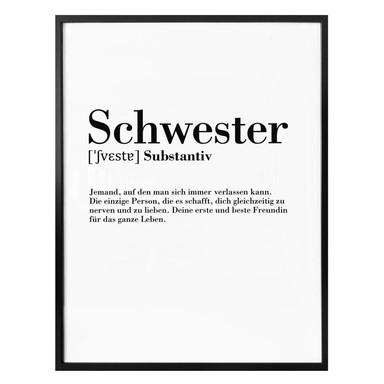 Poster Grammatik - Schwester