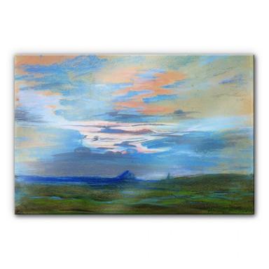 Acrylglasbild Delacroix - Himmelsstudie bei Sonnenuntergang