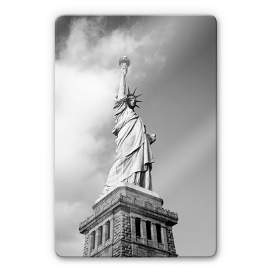 Glasbild Lady Liberty
