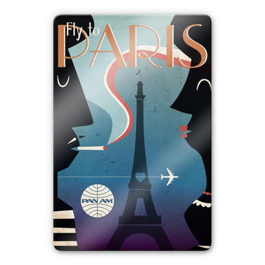 Glasbild PAN AM - Fly to Paris
