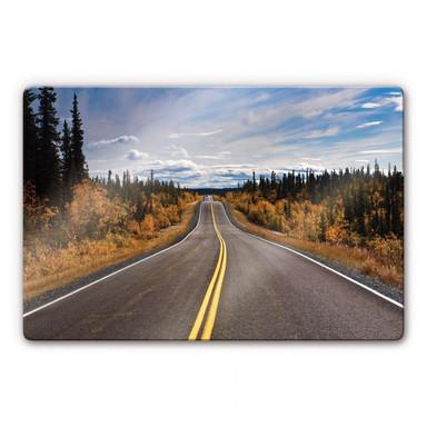Glasbild Road Trip