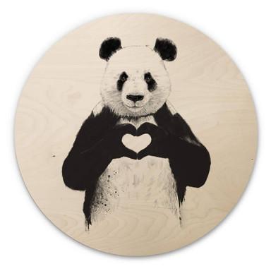 Holzbild Solti - Liebe ist alles - Rund