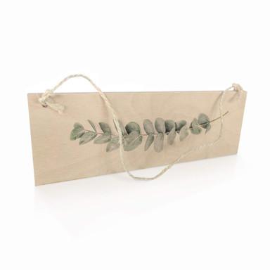 Holzschild Sisi & Seb - Eukalyptus - Ein Zweig