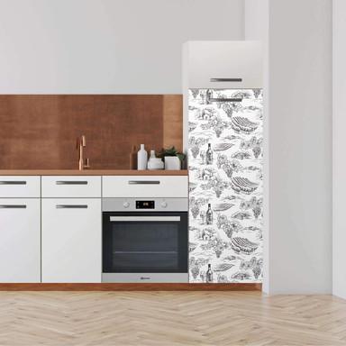 Klebefolie - Hochschrank (60x160cm) - Vineyard- Bild 1