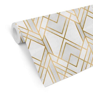 Mustertapete Fredriksson - Art-Deco: Goldene Geometrie