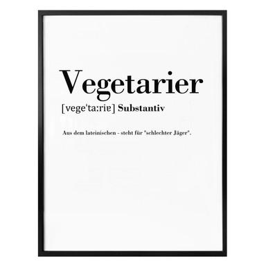 Poster Grammatik - Vegetarier