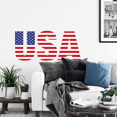 Wandsticker USA Schriftzug
